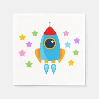 Rocket with Stars Napkin