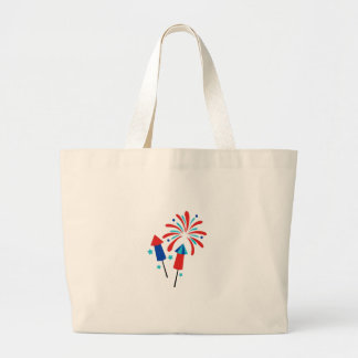 Rockets And Fireworks Large Tote Bag