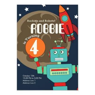 Rockets and Robots Invitation