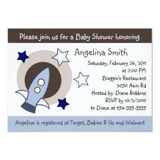 Rockets and Stars Baby Shower Invitation