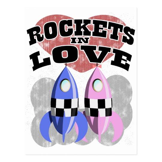 Rockets In Love Postcard