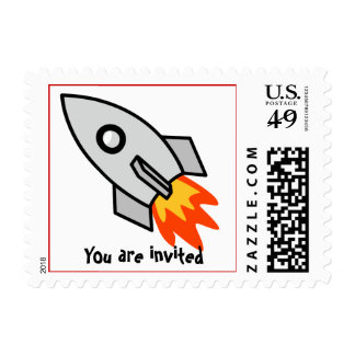 rockets postage stamp