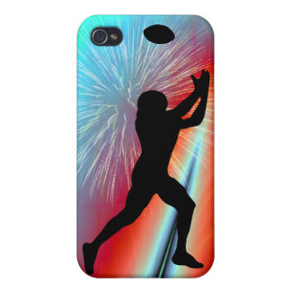 Rocket's Red Glare Football Catch iPhone 4/4S Cases