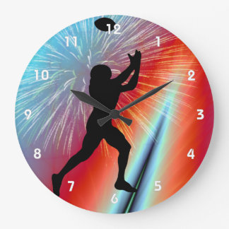 Rocket's Red Glare Football Catch Large Clock