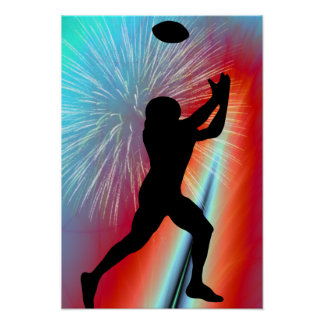 Rocket's Red Glare Football Catch Poster