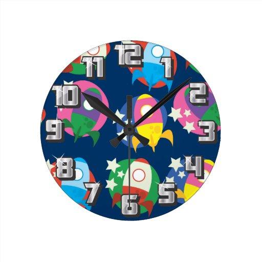 Rockets Round Clock