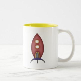 Rocketship Two-Tone Coffee Mug