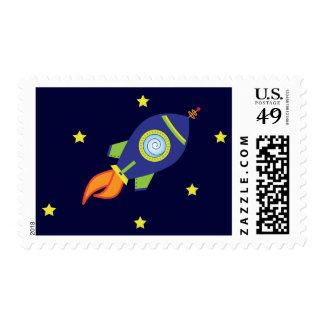 Rocketship Postage
