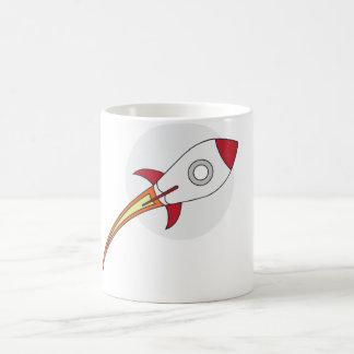 Rocketship rojo taza de café