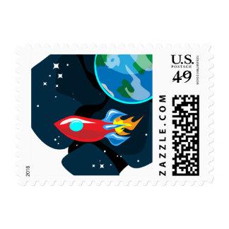 Rocketship Stamp