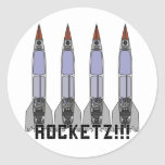 Rocketz3 Pegatinas Redondas