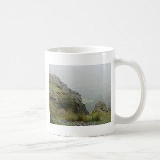 Rockface of St Tydecho - Patron Saint of Mawddwy Coffee Mug