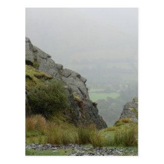 Rockface of St Tydecho - Patron Saint of Mawddwy Postcard