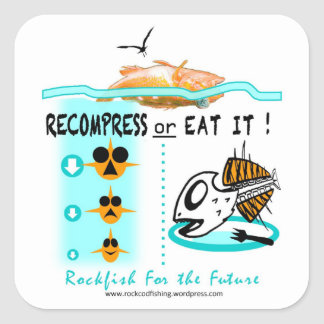 Rockfish fishing stickers, Recompress Or Eat It