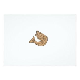 Rockfish Jumping Up Drawing Card