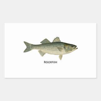 Rockfish Logo Rectangular Sticker