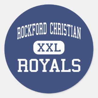 Rockford Christian - Royals - High - Rockford Round Stickers