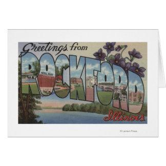 ROCKFORD, Illinois - escenas grandes de la letra Tarjeta De Felicitación