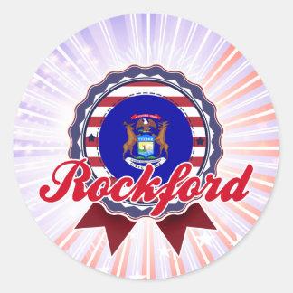 Rockford, MI Round Stickers