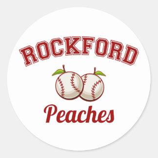 Rockford Peaches Classic Round Sticker