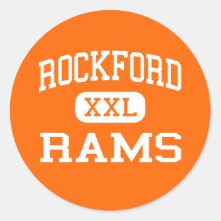 Rockford - Rams - High School - Rockford Michigan Round Stickers