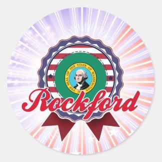 Rockford, WA Round Stickers