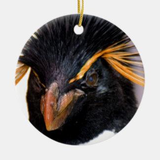 rockhopper penguin ceramic ornament
