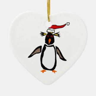 Rockhopper Penguin Christmas Art Ornaments