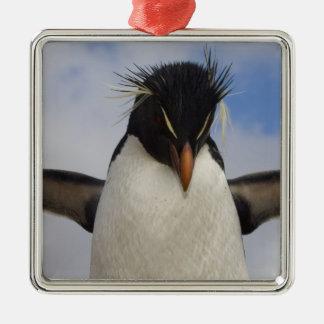 Rockhopper Penguin Eudyptes chrysocome Metal Ornament
