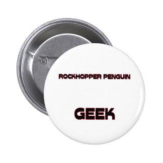 Rockhopper Penguin Geek Pinback Button