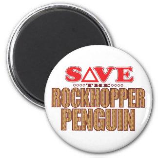 Rockhopper Penguin Save 2 Inch Round Magnet