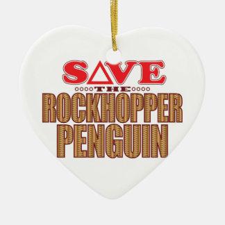 Rockhopper Penguin Save Ceramic Ornament