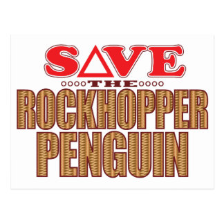 Rockhopper Penguin Save Postcard