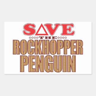 Rockhopper Penguin Save Rectangular Sticker