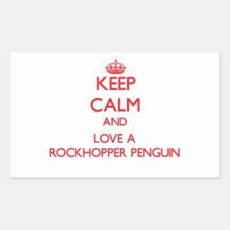 Rockhopper Penguin Rectangular Sticker