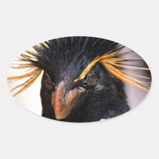 rockhopper penguin oval sticker