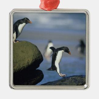 Rockhopper Penguins, Eudyptes chrysocome), Metal Ornament