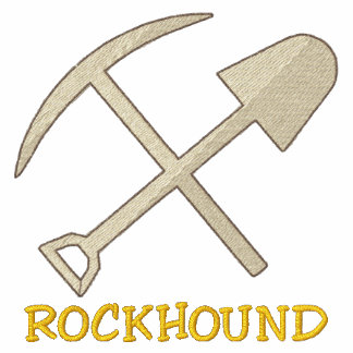 Rockhound bordó la camiseta sudadera bordada