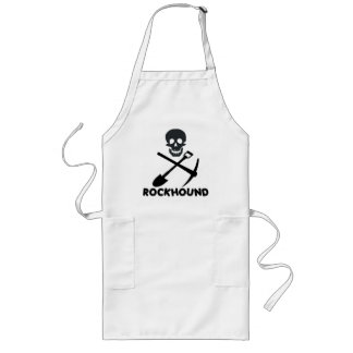Rockhound Skull Cross Shovel and Pick Long Apron