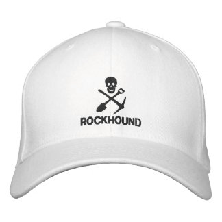 Rockhound Skull Cross Shovel Pickax Embroidered Embroidered Hats