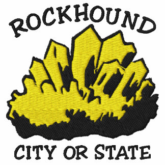 Rockhound Type In Your City or State Embroidered Embroidered Hoodie