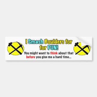 Rockhound Warning Bumper Stick Bumper Sticker