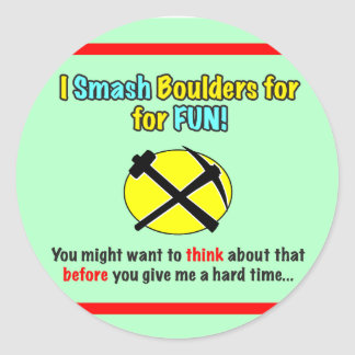 Rockhound Warning Stickers