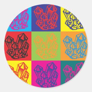 Rockhounding Pop Art Classic Round Sticker