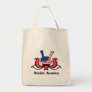 Rockin America! - Designer Grocery Tote