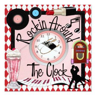 Rockin' Around the Clock Party - SRF Card