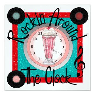 Rockin Around the Clock Party - SRF Personalized Invite