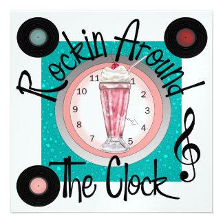 Rockin Around the Clock Party - SRF Custom Invitation