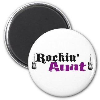 Rockin Aunt 2 Inch Round Magnet