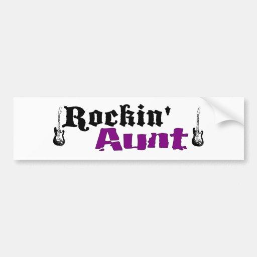 Rockin Aunt Car Bumper Sticker